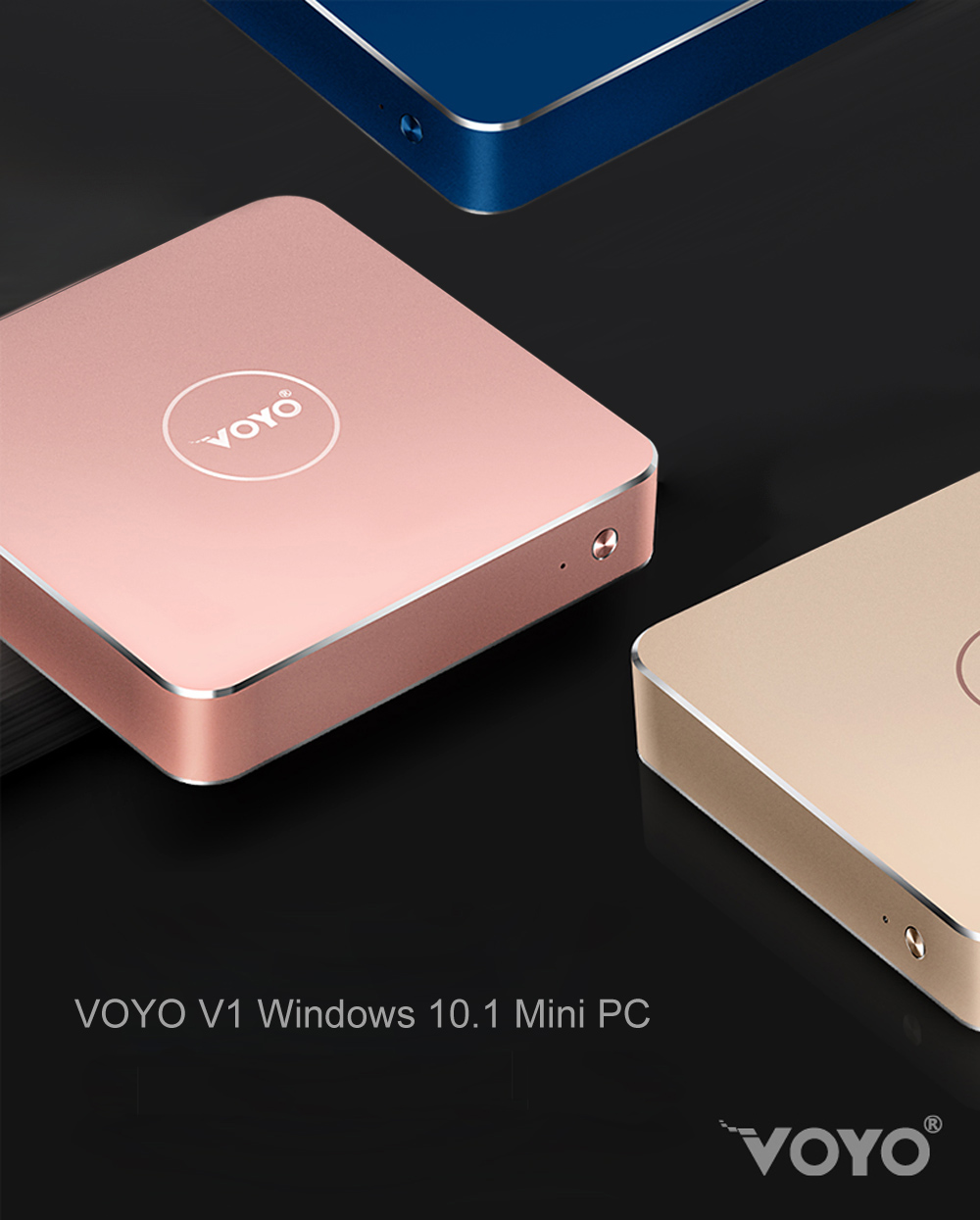 VOYO V1 Mini PC with Intel Celeron N3450 Quad Core CPU Windows 10.1 System Bluetooth 4.0 Connectivity 32G eMMC + 128G SSD ROM