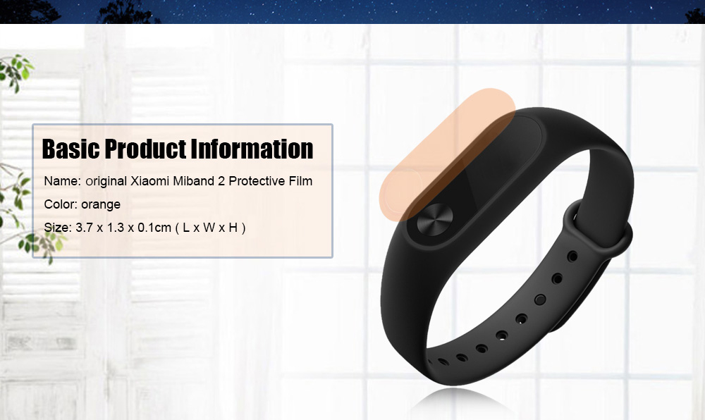 Original Xiaomi Miband 2 Protective Film with 2PCS Cleaning Paper