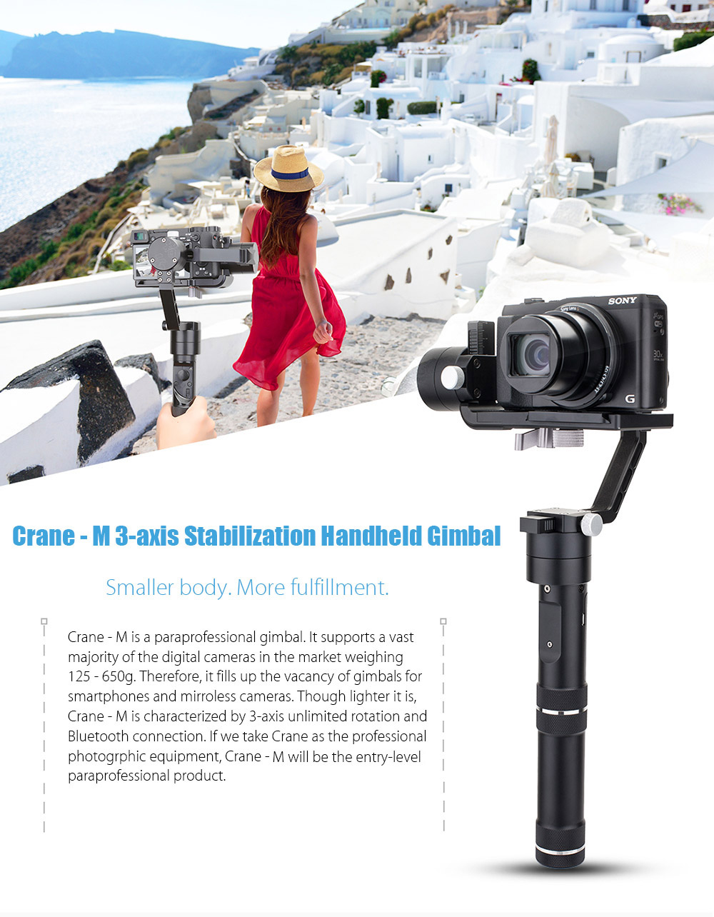 Zhiyun Crane M Handheld Gimbal 39845 Free Shipping Tripod Pole For 3axis Smooth Q 3 Package Contents 1 X Battery Compartment 2 26500 37v 3600mah Li Ion Usb Cable English Manual Quick Start