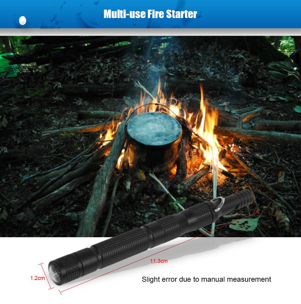 Multi-use Magnesium Fire Starter with Compass / Whistle for Outdoor Survival