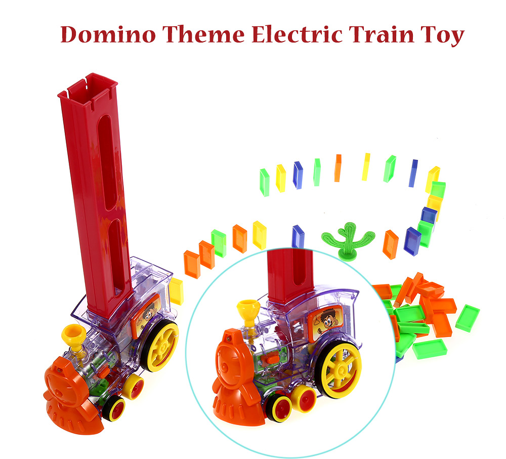 Domino Train Toy with Light Sound Educational Kit