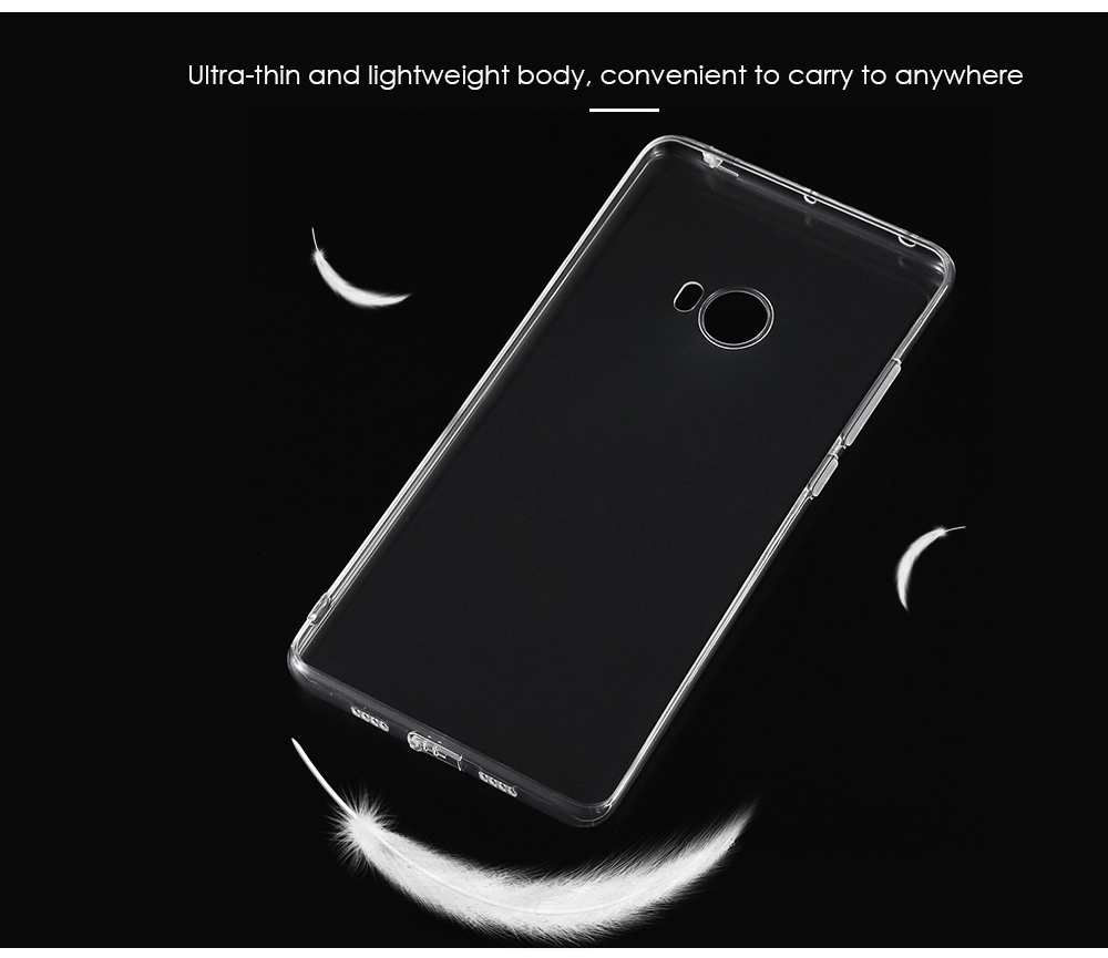 ASLING Transparent TPU Soft Protective Phone Back Case for Xiaomi Note 2 Ultra-thin Mobile Shell