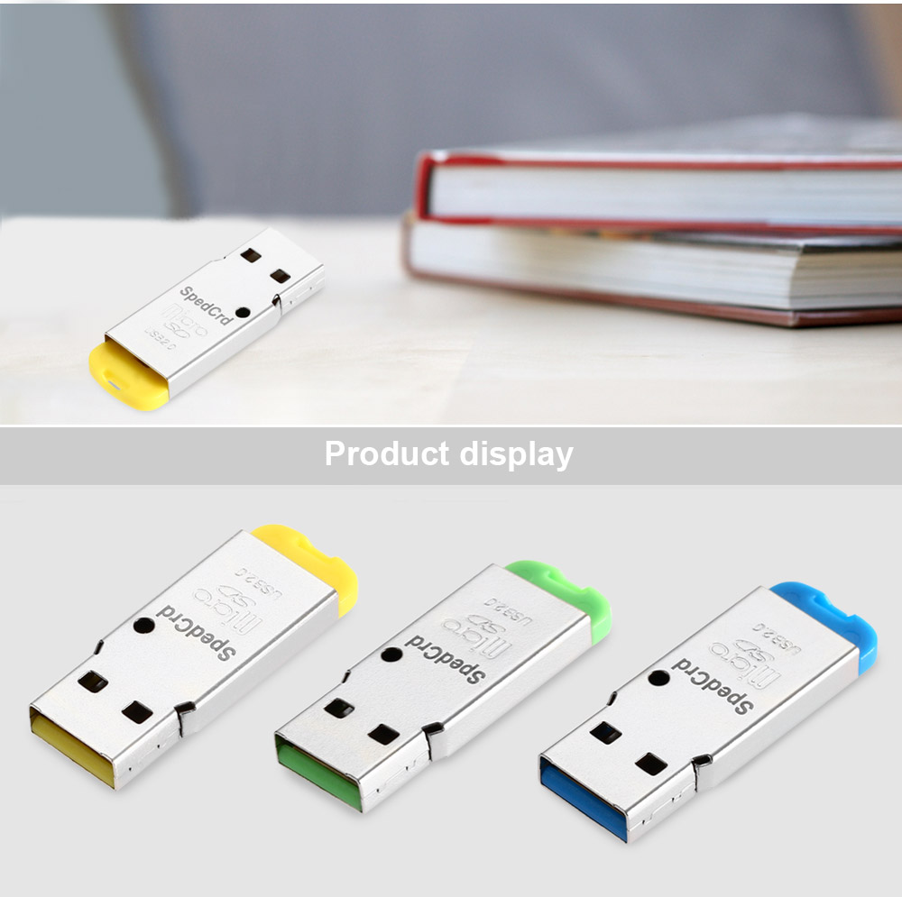 SpedCrd Multi-functional USB 2.0 Micro SD / TF Card Reader