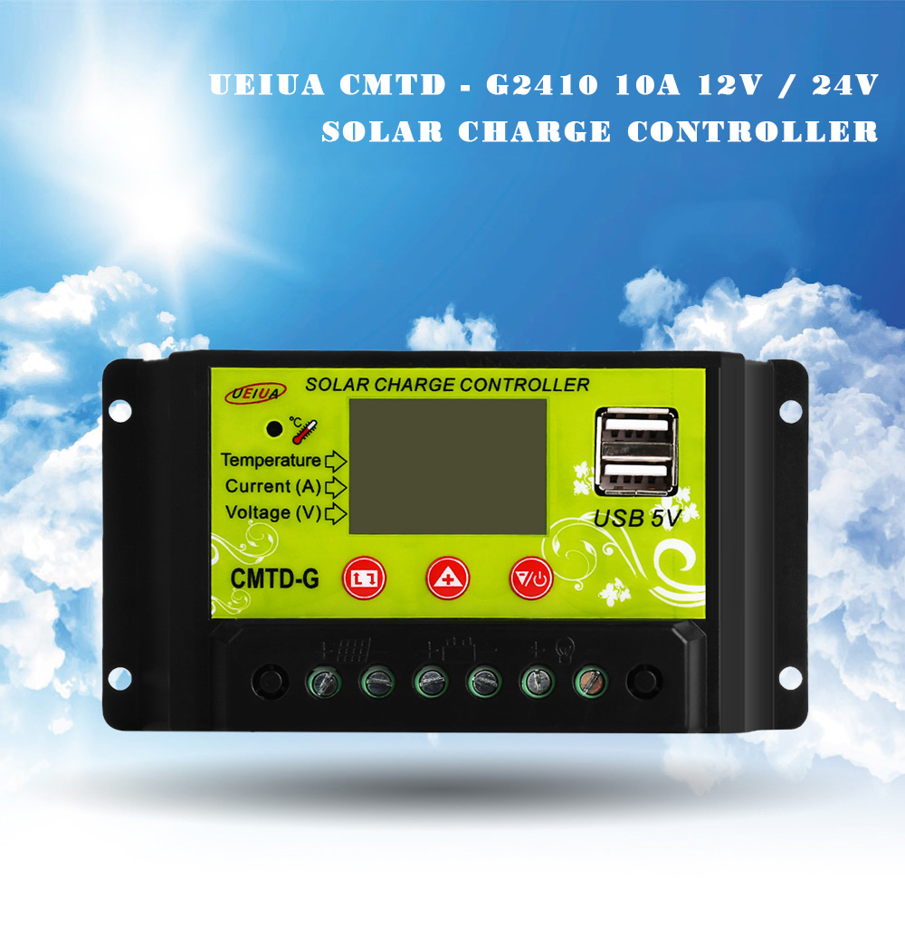 Ueiua Cmtd G2410 10a 12v 24v Solar Charge Controller 1480 Discharge Welder Processor Controlled Pwm Relay Driver Schematic Package Contents 1 X English And Chinese User Manual