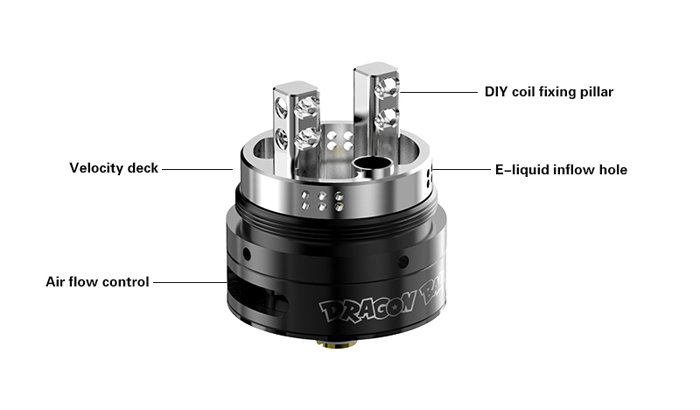 Original Fumytech Dragon Ball RDTA with 4ml Capacity / Bottom Airflow / Top Filling for E Cigarette