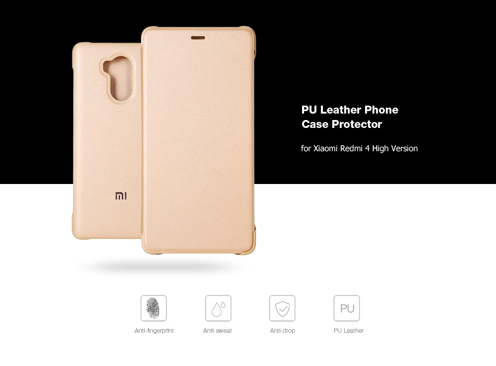 Xiaomi Redmi 4 High Edition PU Leather Protective Case