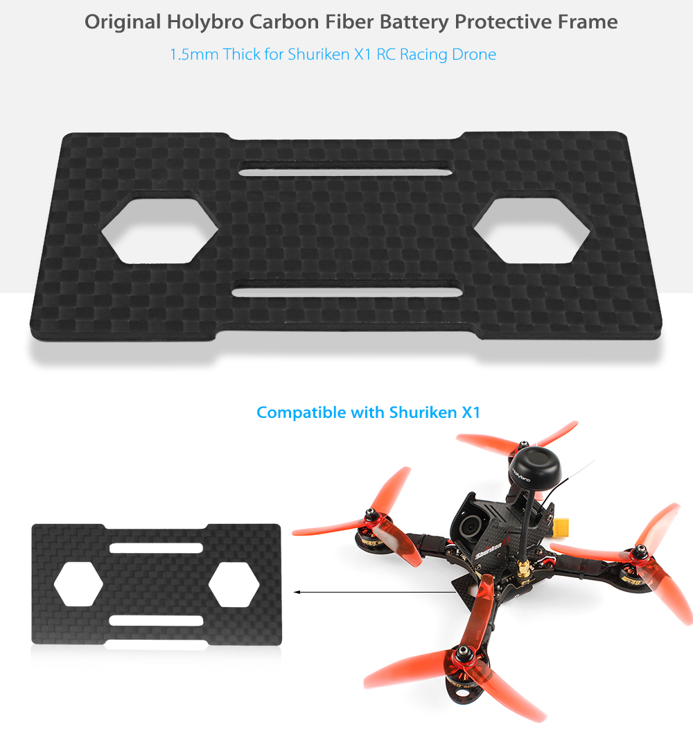 Original Holybro 1.5mm Thick Carbon Fiber Battery Protector for Shuriken X1 RC Racing Drone
