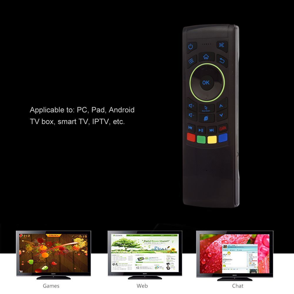 2.4GHz Wireless Air Mouse Remote Control for TV Box / Smart TV / Desktop
