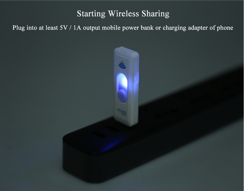 WEITASI UV - W03 USB 3.0 WiFi U-disk Wireless Files Sharing for Android Smart Phone iPhone iPad
