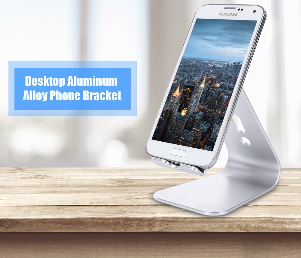 SA2 Aluminium Alloy Portable Desktop Bracket Phone Stand Holder with Nanometer Anti-slip Pad