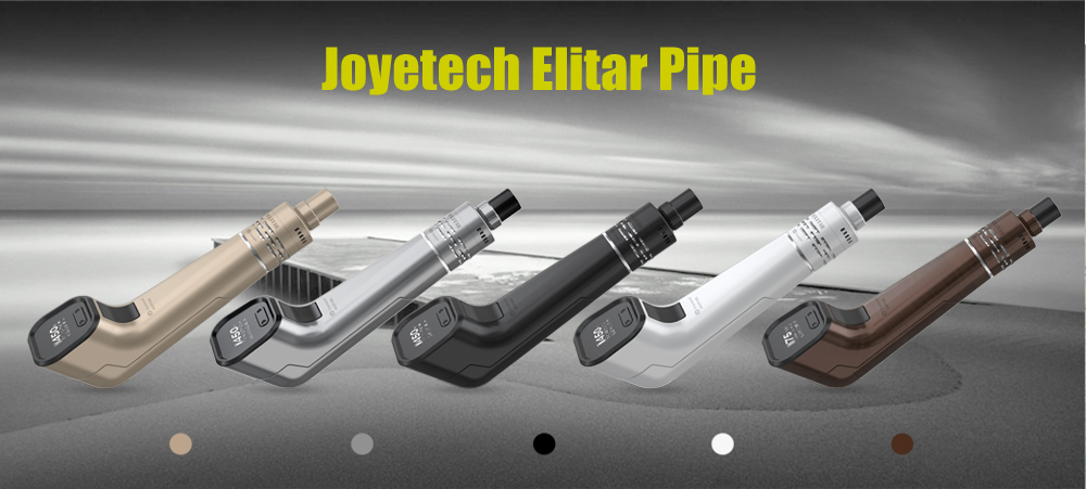 Original Joyetech Elitar Pipe with 75W / TC / Power / BYPASS / TCR Modes / Supporting 1pc 18650 Battery / 0.5 ohm / 2ml Capacity Clearomizer for E Cigarette