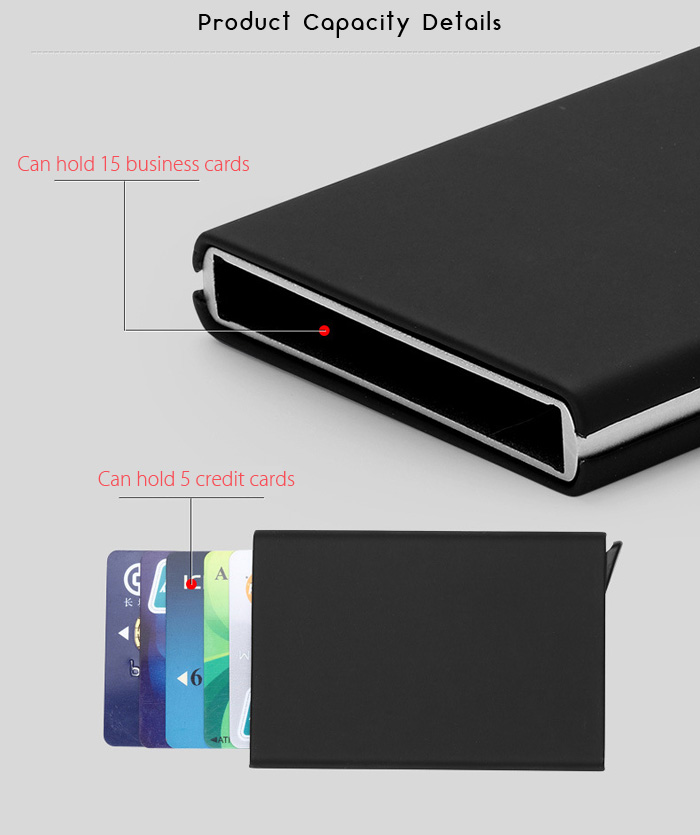 Automatic Creative Pop-up RFID-blocking Card Holder -$10.44 Online ...