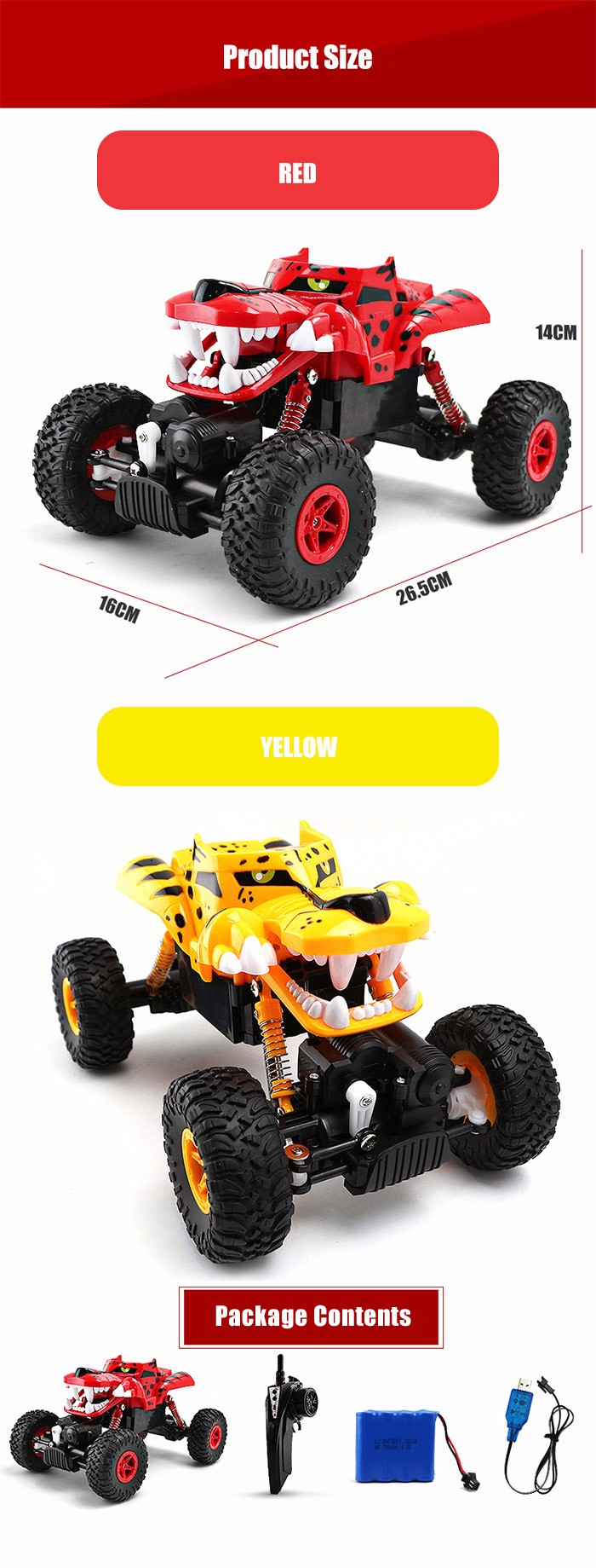 G03052R 1:18 RC Climbing Truck - RTR - $26.53 Free Shipping|GearBest.com
