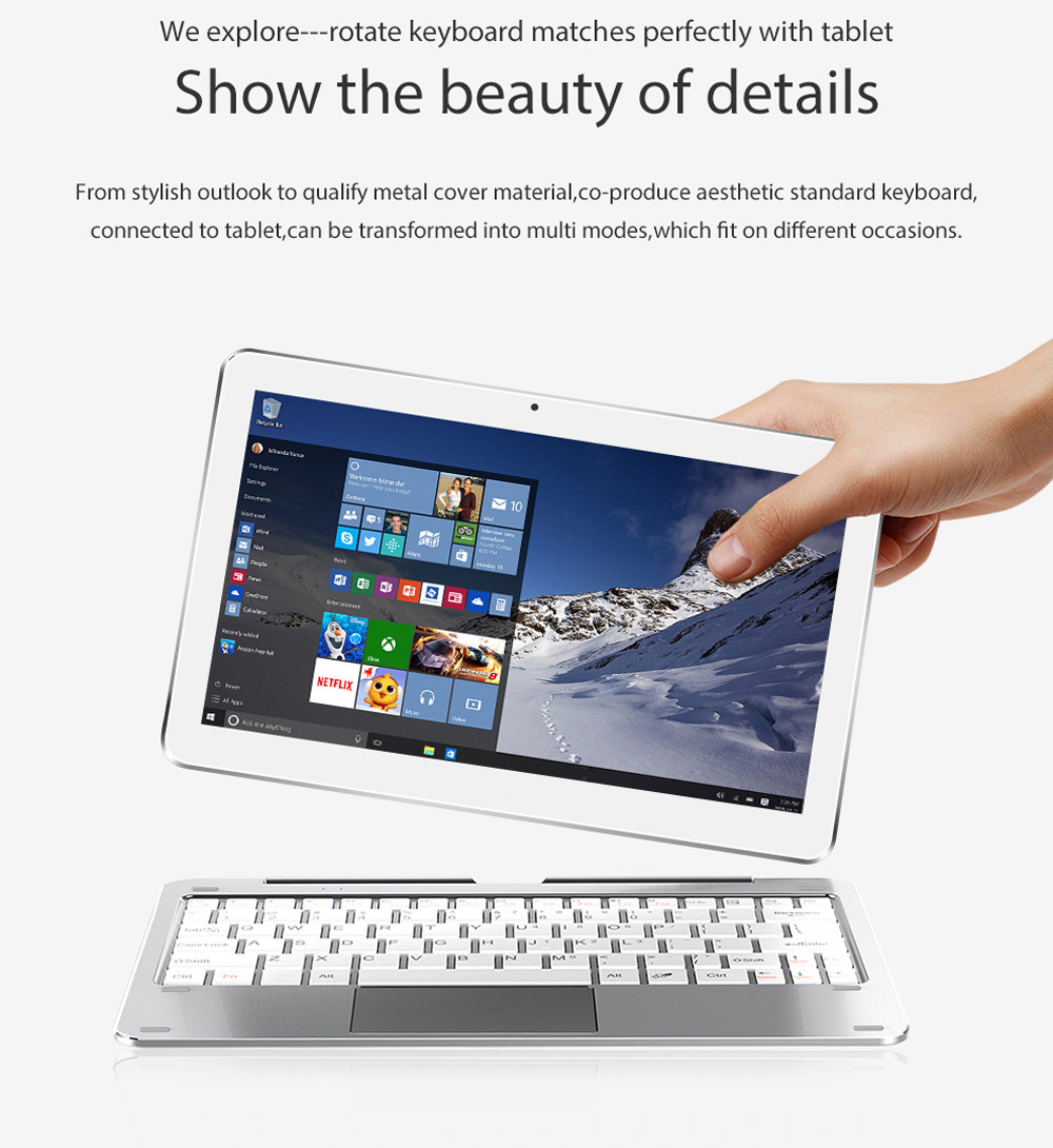 Gearbest ALLDOCUBE Mix Plus 2 in 1 Tablet PC - SILVER