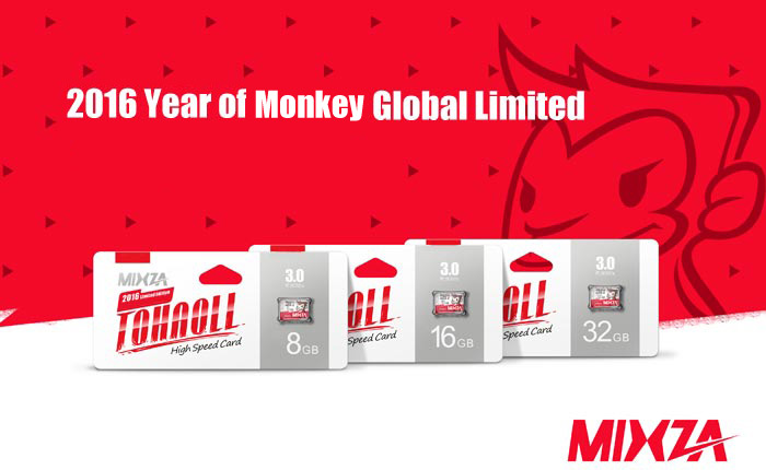 MIXZA TOHAOLL SDXC Micro SD Card Monkey Year Limited Edition Memory Cards Storage Device