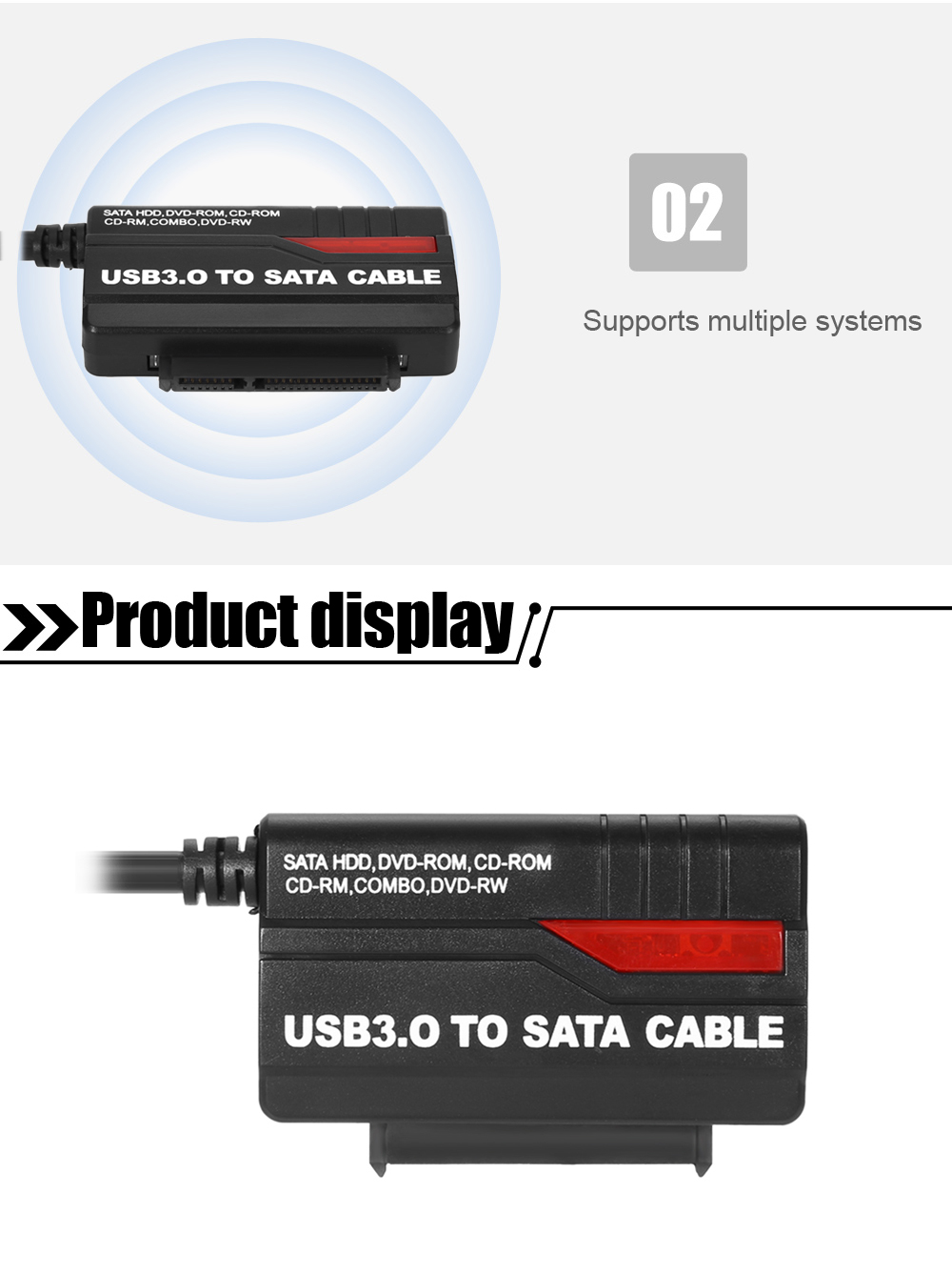 889u3 Usb 30 To 25 35 Inch Ide Sata Hdd Adapter 1499 Free Notebook Interface Cdrom External Drive Circuit Board 3 For Desktop Pc
