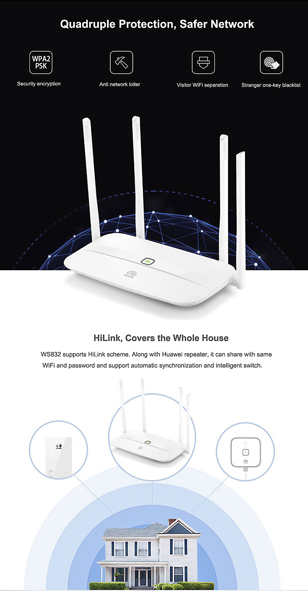 Huawei Ws832 Wireless Router 6164 Free Shipping Building Diagram For Routers Packing List 1 X Power Adapter Cable Chinese User Manual
