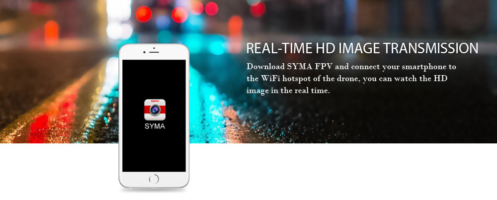 Syma X8SW RC Drone RTF WiFi FPV 0.3MP Camera / 2.4GHz 4CH 6-axis Gyro / Air Press Altitude Hold