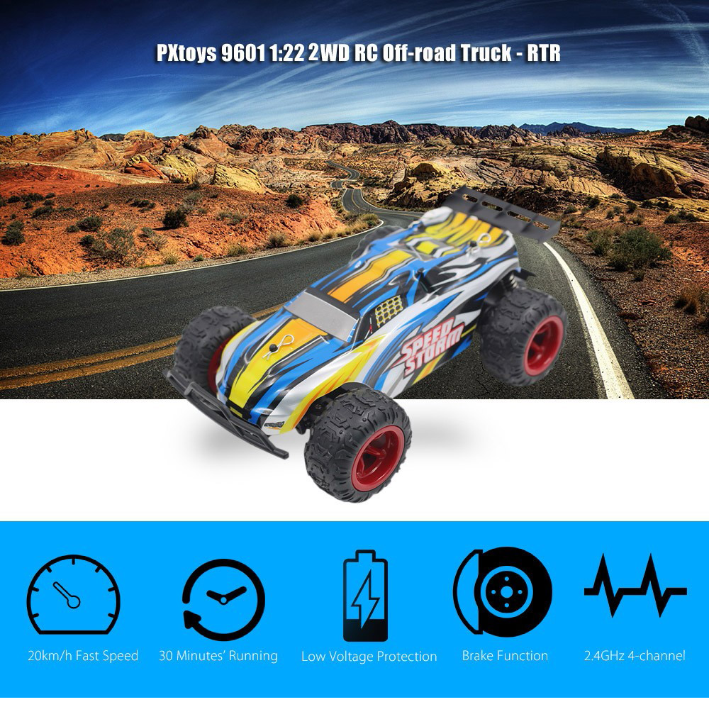 PXtoys 9601 1:22 2WD RC Off-road Car RTR 20km/h 2.4GHz 4CH with Brake Low Voltage Protection