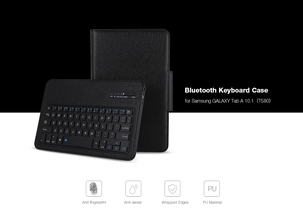 PU Leather Bluetooth Keyboard Case for Samsung Galaxy Tab A 10.1 ( T580 )