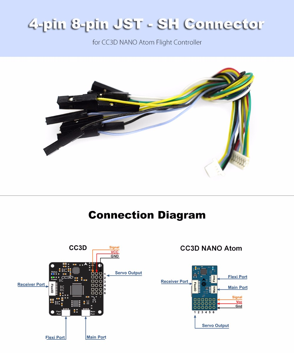 4 Pin 8 Jst Sh Connector 100 Free Shipping Cc3d Flight Controller Wiring Diagram Picture Package Contents 1 X