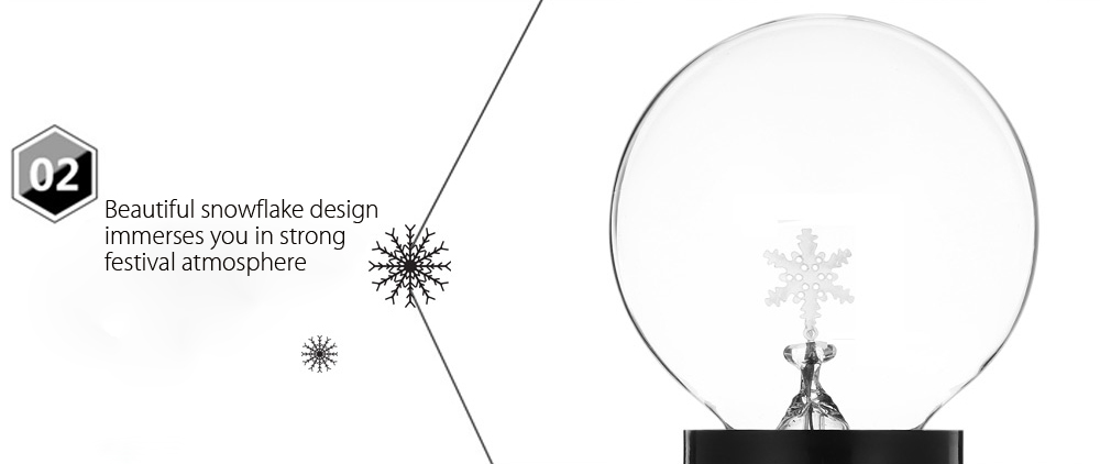 Creative Christmas Glass Snowflake Decorative Night Light Lamp