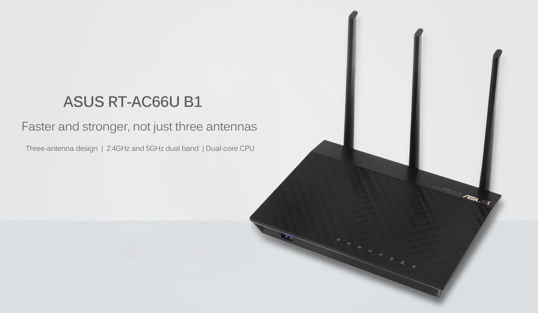 ASUS RT - AC66U B1 Dual-band 3x3 AC1750 WiFi 4-port Gigabit Router