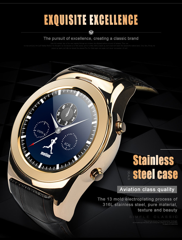 Aiwatch G3 1.3inch Smartwatch Phone MTK2502 Remote Capture Sedentary Reminder Music Anti-lost Magnetic Charging Bluetooth