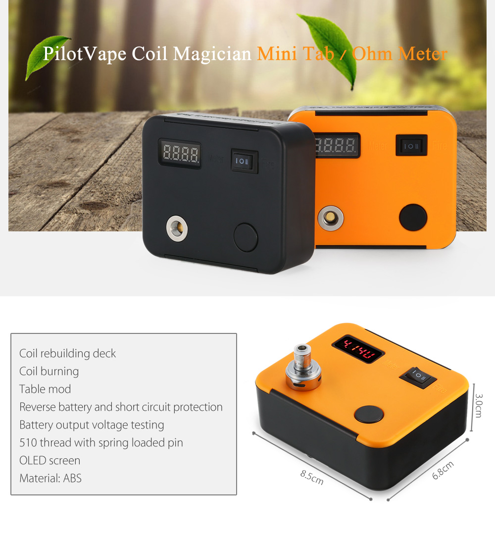 Original Pilotvape Coil Magician Mini Tab Ohm Meter 1639 Free To Clean The Lens Of A Green Laser Pointer Hacks Mods Circuitry With 01 09 For E