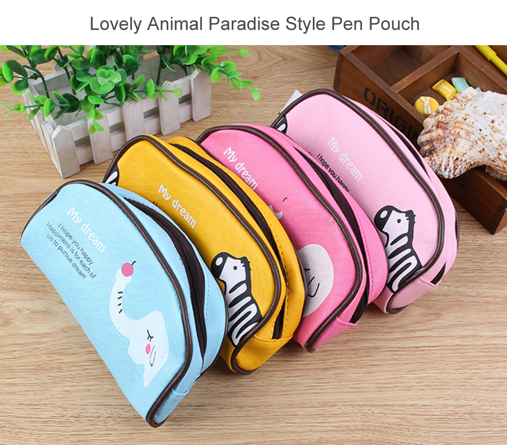 Cute Animal Paradise Style Pencil Pouch Pen Bag