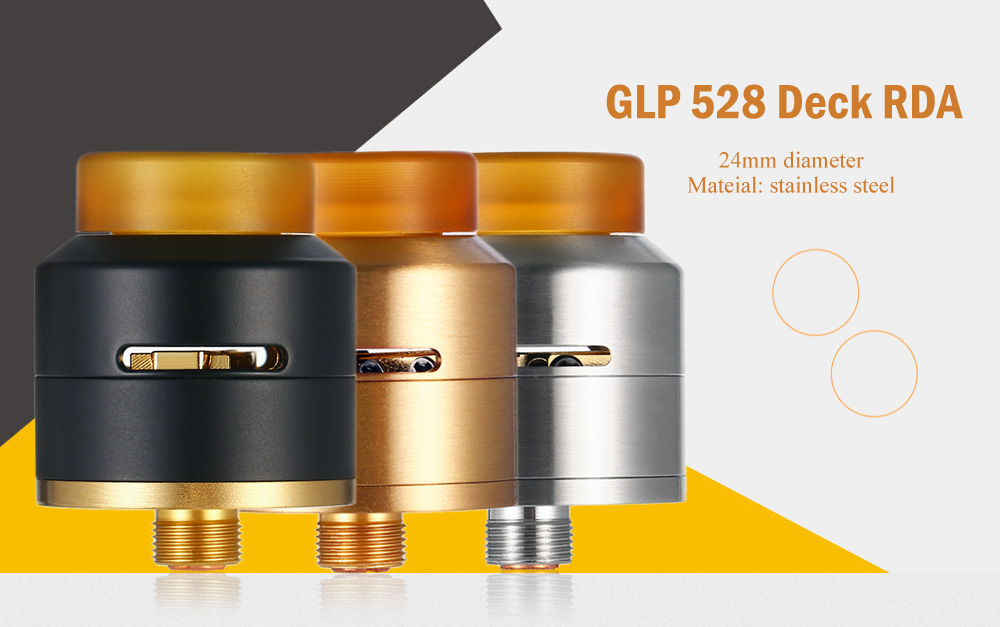 GLP 528 Deck RDA with Side Adjustable Airflow / Heat-insulated Drip Tip for E Cigarette