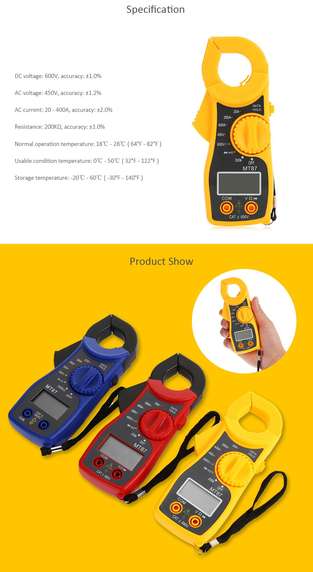 Mt87 Digital Clamp Meter 955 Free Shipping Voucher Mc Donald 200k We Do Not Accept Any Responsibility Or Liability For Misuse Of This Other Product All Our Products Are Extensively Tested To Comply With Rigorous
