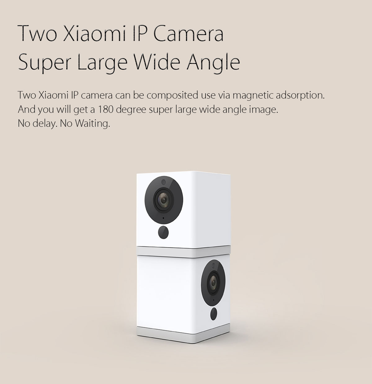 Original Xiaomi xiaofang 1080P Smart WiFi IP Camera Night Vision IR-cut Motion Detection 110 Degree FOV- White and Black