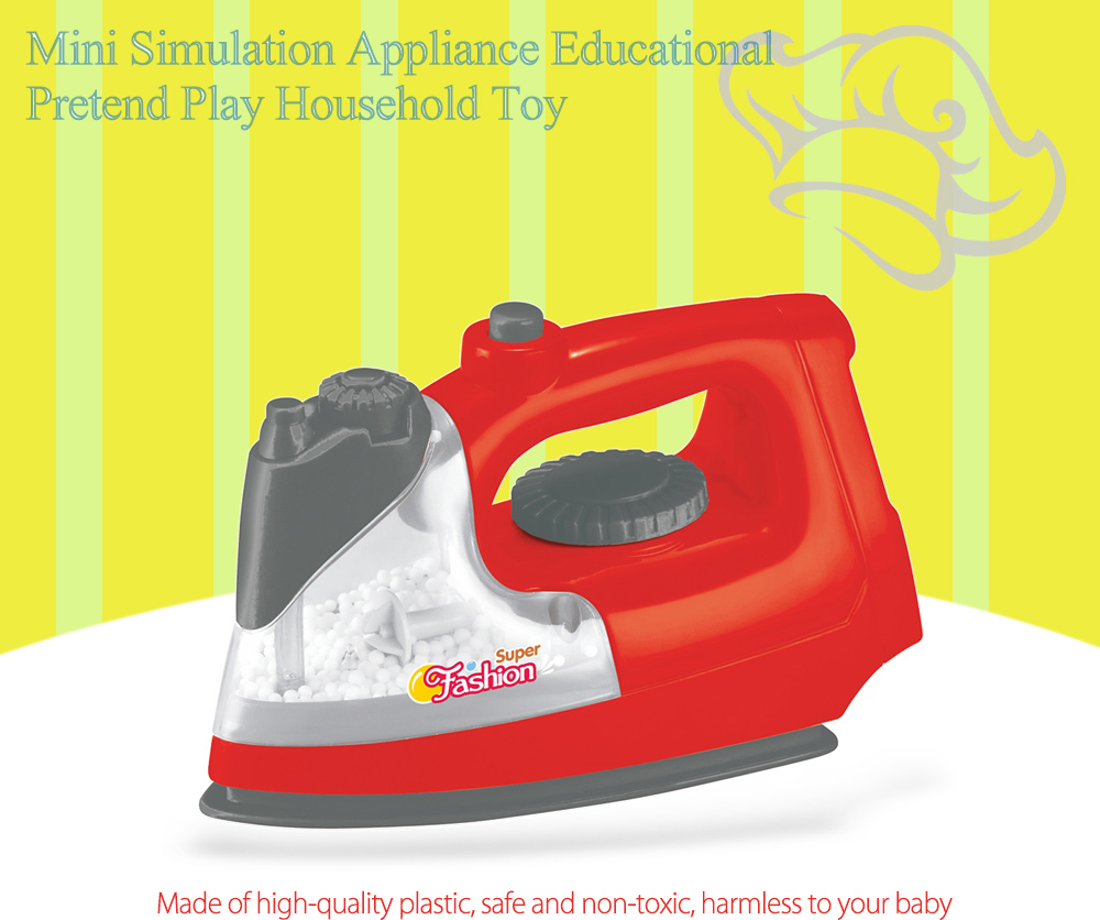 Simulation Appliance Ironing Machine Educational Pretend Play Household Toy Gift