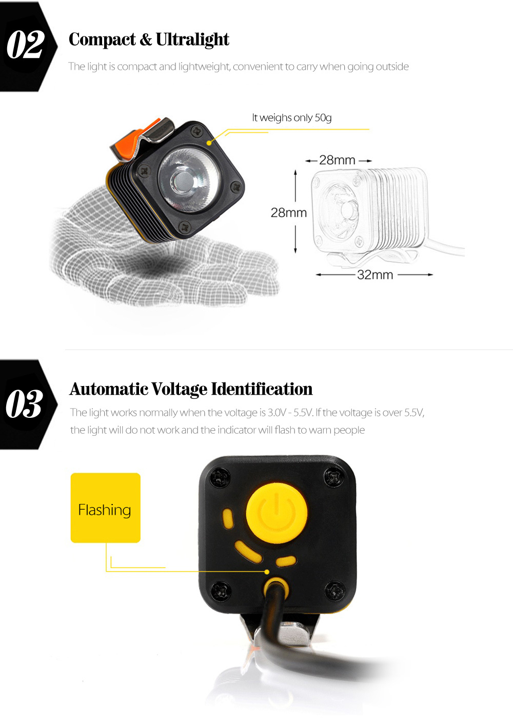Mini 5v Usb Bike Headlight 486 Free Shipping Automatic Switch Package Contents 1 X 2 Rubber Ring