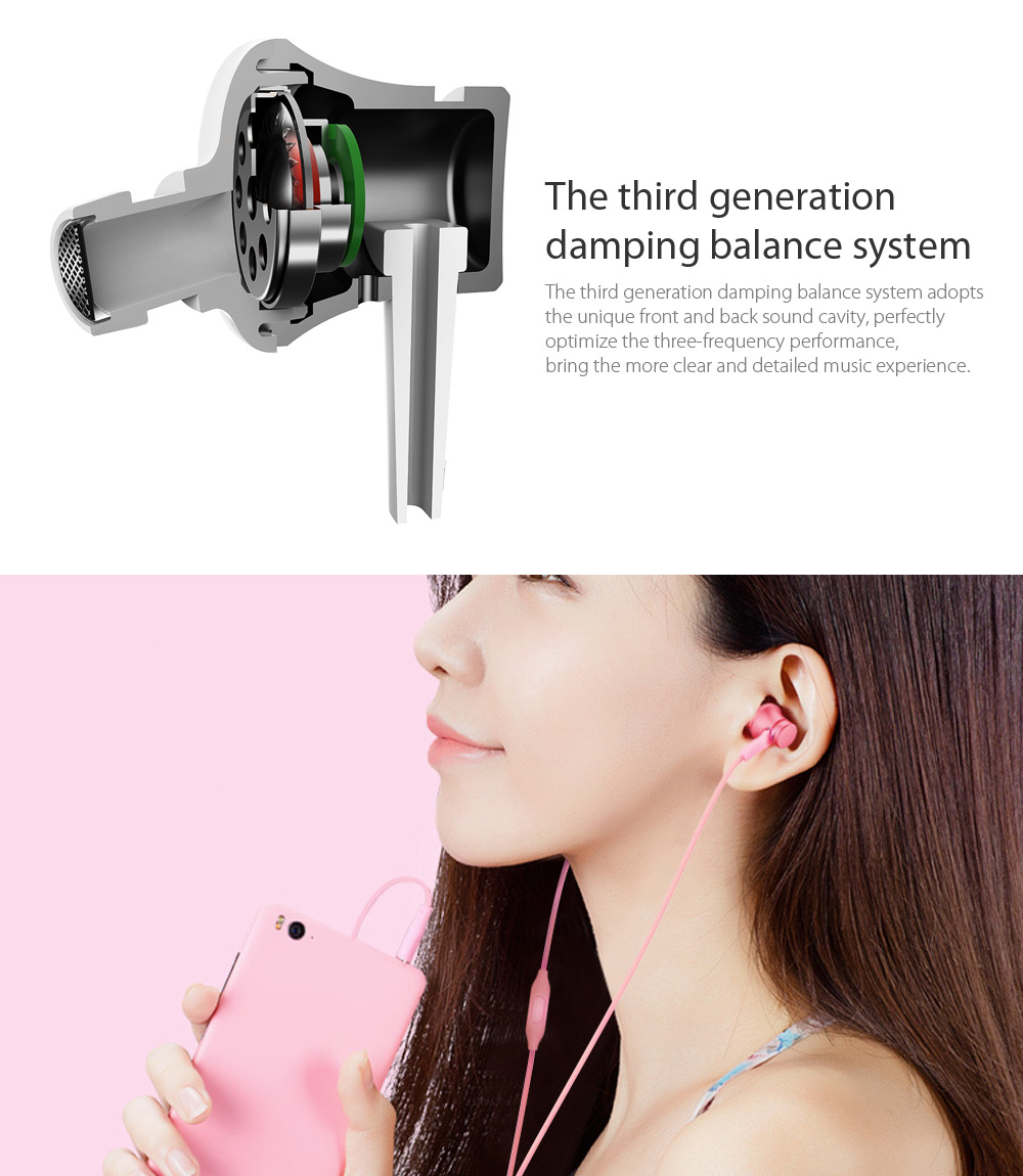Original Xiaomi Piston In-ear Earphones with Mic Fresh Version- Black