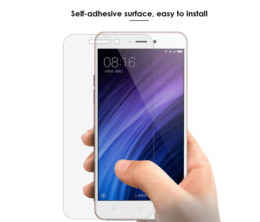 ASLING Tempered Glass Screen Protective Film for Xiaomi Redmi 4A Ultra-thin 0.26mm 2.5D 9H Explosion-proof Protector- Transparent