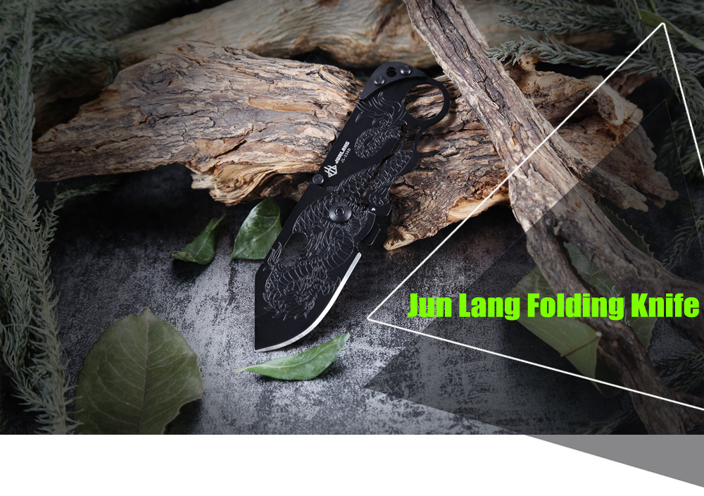Jun Lang JL - 238B Mini Card Style Stainless Steel Frame Lock Folding Knife