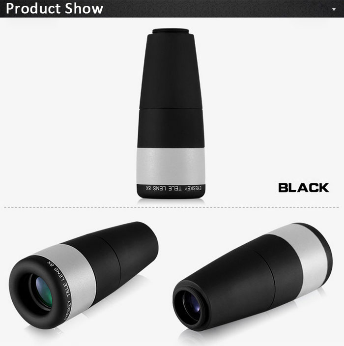 Eyeskey CM168 Porro BAK - 4 Prism 8 x 16 HD Monocular Mini Mobile Phone Accessory