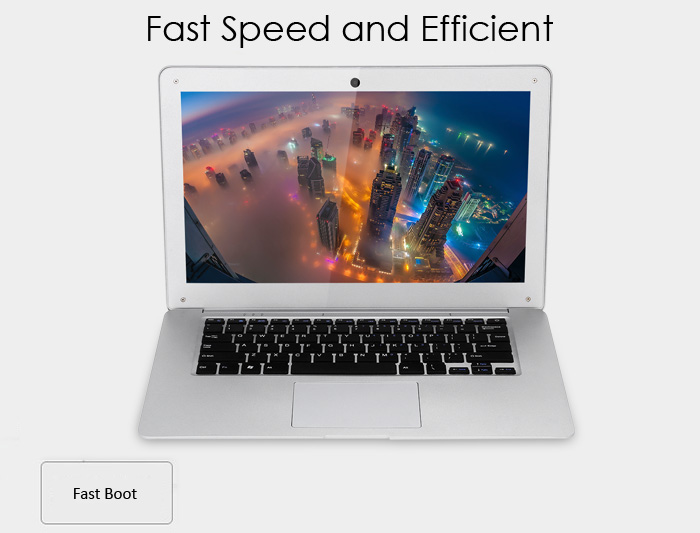 Jumper Ezbook 2 14.0 inch Ultrabook Notebook Windows 10 Intel Cherry Trail X5 Z8350 Quad Core 1.44GHz LED Screen 4GB RAM 64GB eMMC HDMI Bluetooth 4.0 Camera
