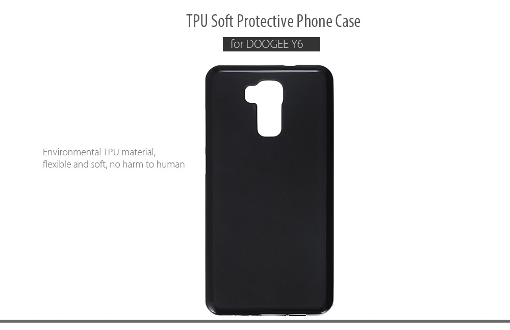 TPU Soft Case Protective Cover Phone Protector for DOOGEE Y6