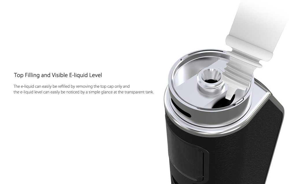 Original Eleaf ASTER Total with 1 - 25W / Built-in 1600mAh Lithium-ion Battery / 1.1 ohm Clearomizer for E Cigarette- Silver