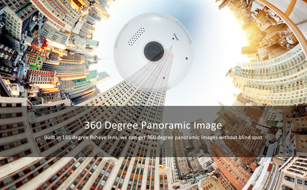 Bulb Shape 360 Degree Panorama 960P 1.3MP WiFi IP Camera Fisheye Lens