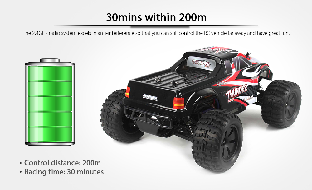 ZD Racing 10427 - S 1:10 Big Foot RC Truck - RTR BRUSHLESS VERSION on