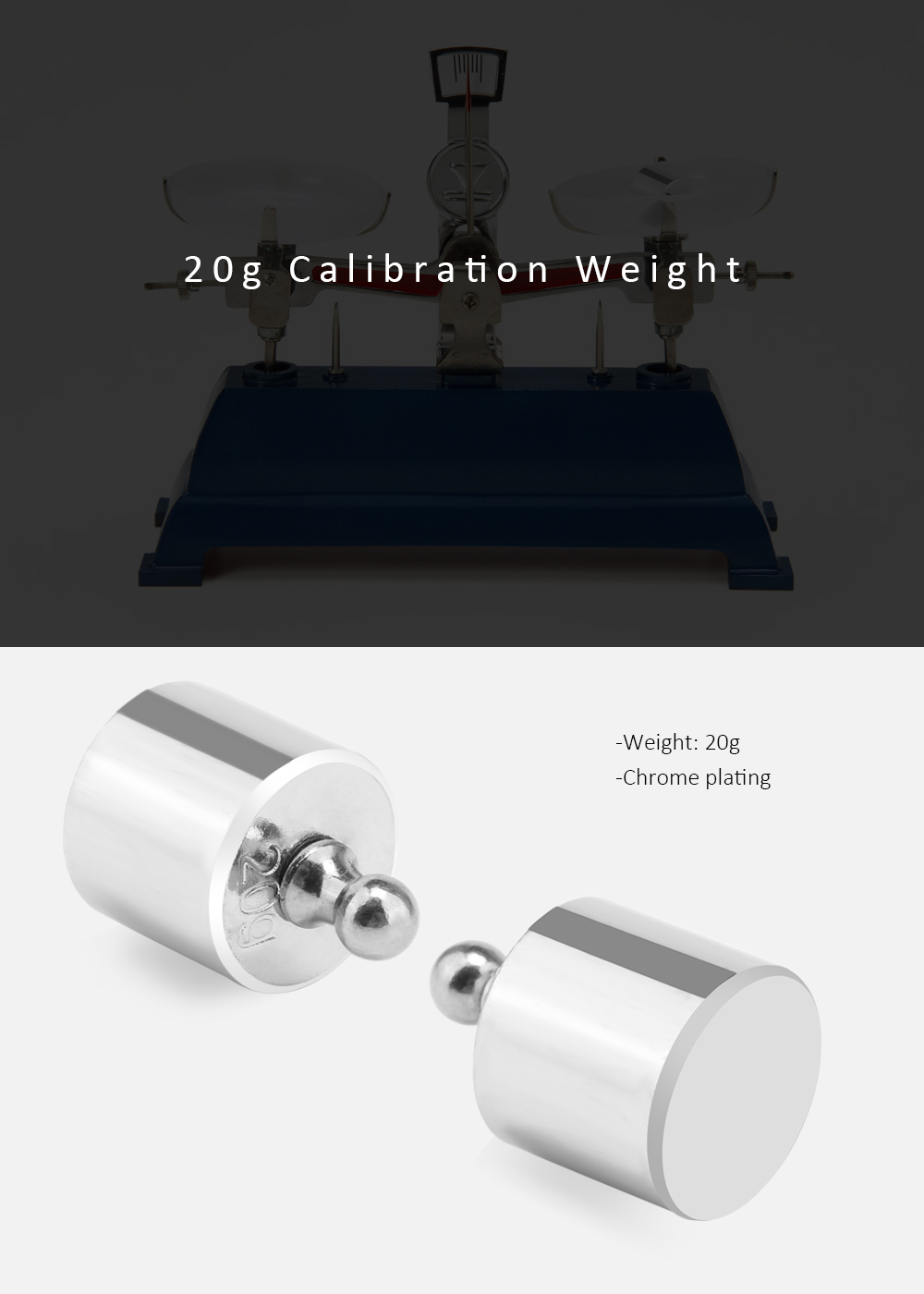 20g Calibration Weight for Digital Scale Balance