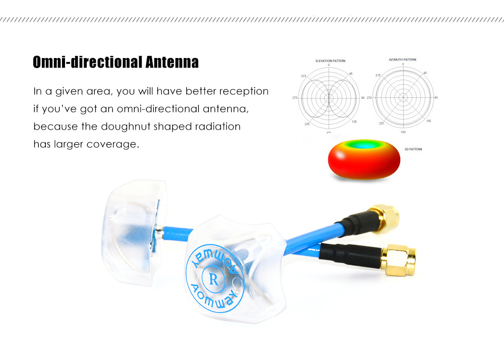 Aomway 5.8G 3dBi Four-leaf FPV Antenna Set for AV Transmitter Receiver