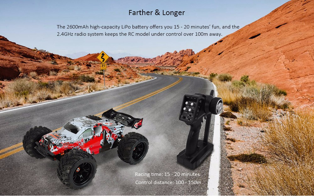 DHK HOBBY 8384 1:8 4WD Off-road Racing Truck RTR 70km/h / Wheelie / High-torque Servo- Colormix