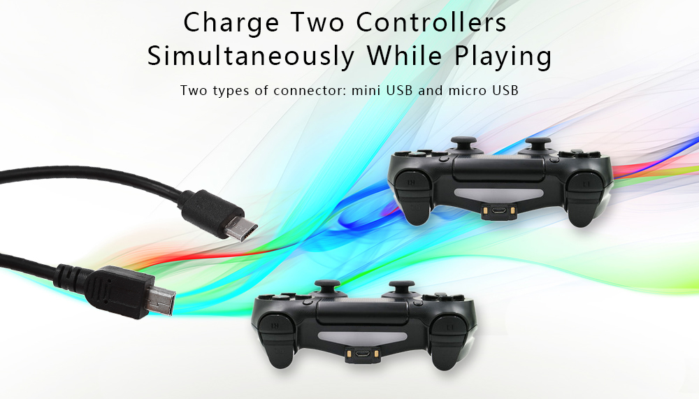 3 5M Dual-Charging Cable for Two PS4 PSVR Game Controllers