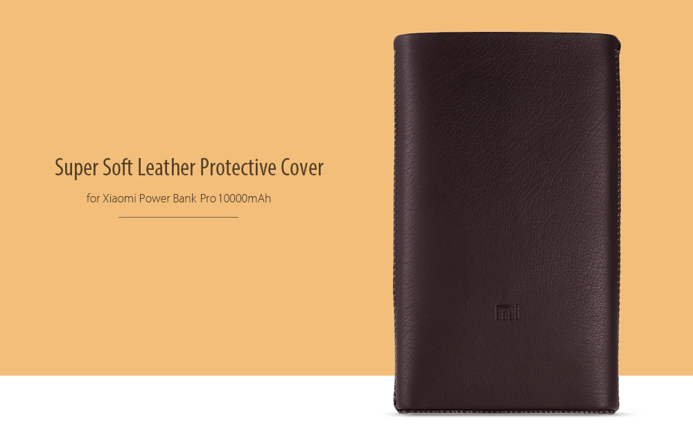 sports shoes 06734 8a756 Xiaomi Mi Power Bank Pro 10000mAh Leather Case Cover Pouch