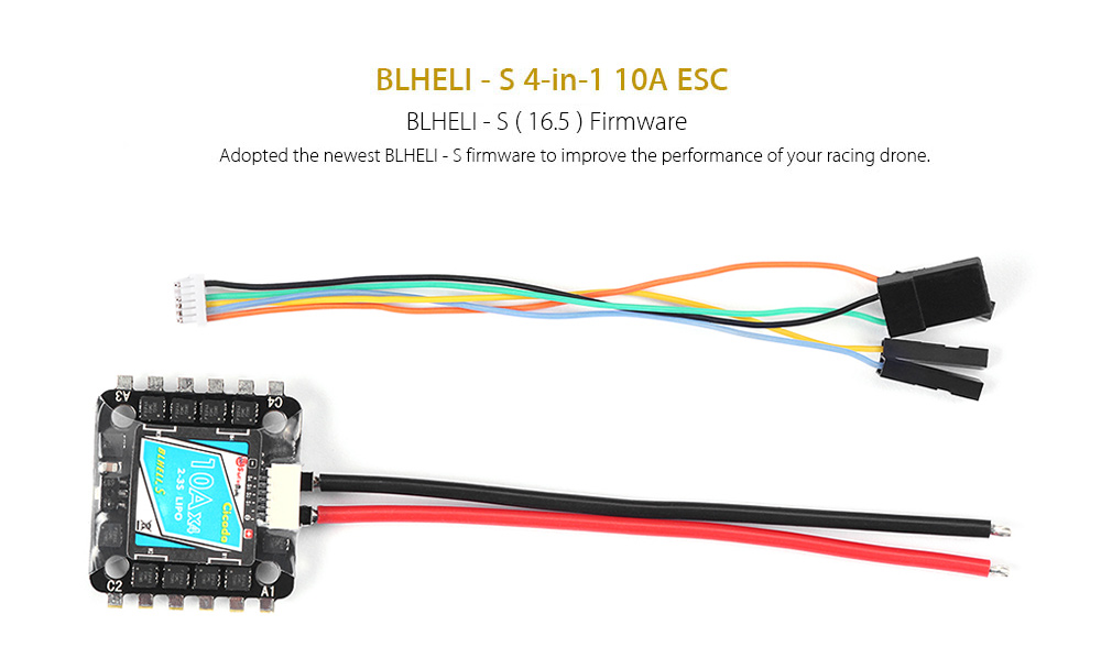 Sunrise Model Cicada BLHELI - S 4-in-1 10A 2 - 3S Brushless ESC for 85 - 130mm Racing Drone